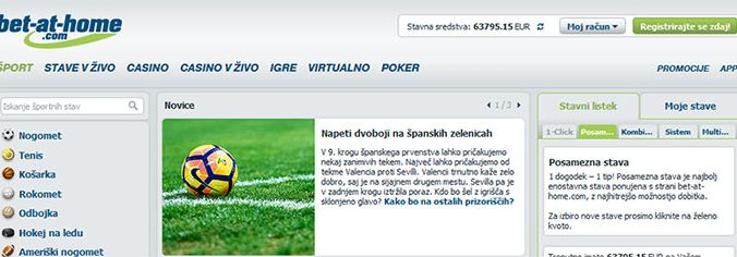 bet at home slovenia